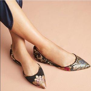 Sam Edelman l Pointy Toe Brocade D'Orsay Flats 7.5